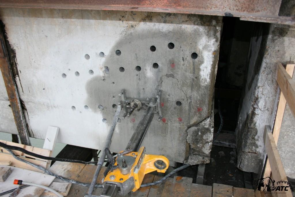 алмазное бурение бетона.