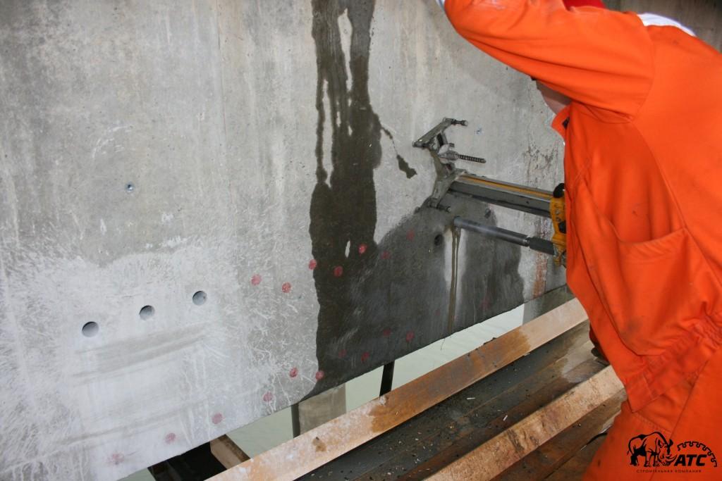 алмазное сверление отверстий в бетоне.